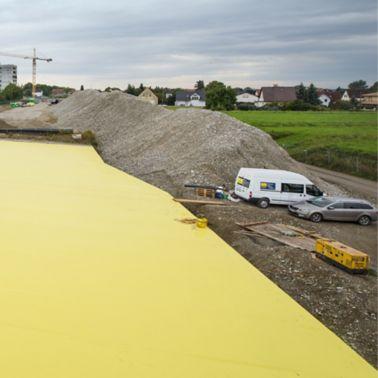 Sauber verlegte Abdichtungsbahnen Sikaplan® WP 1100-21HL2