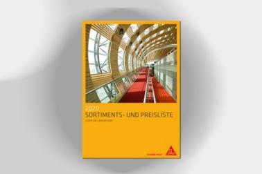 Sortiments- und Preisliste Bau