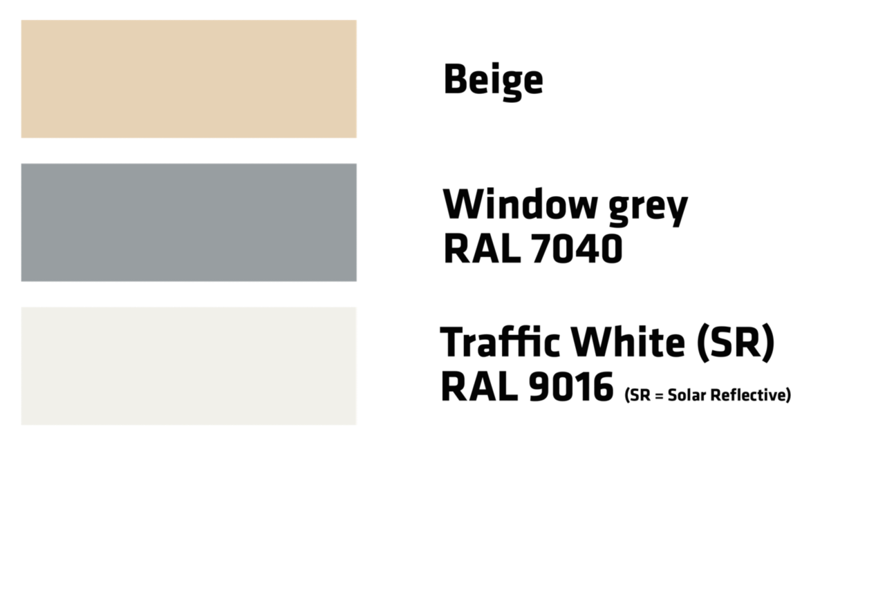 Kleuren Sarnafil TS 77-E
