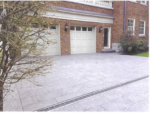 garage entrance with tiles