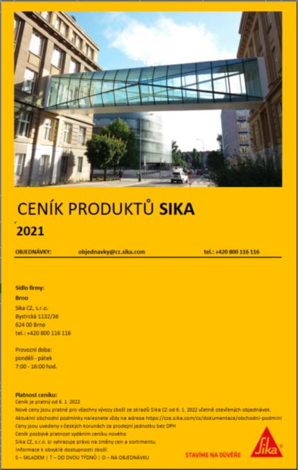 ceník Sika 2020