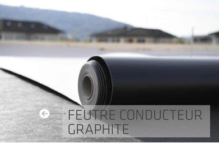 SikaRoof SmartControl Feutre conducteur graphite