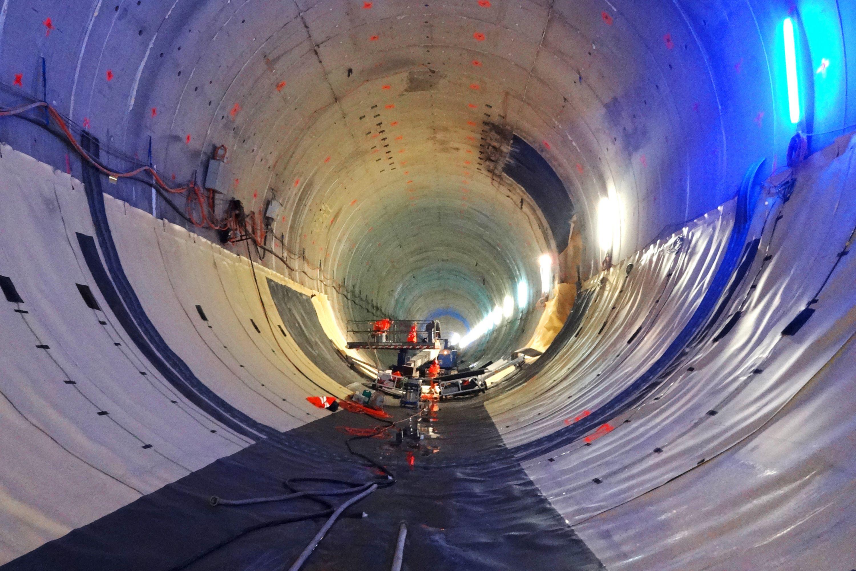 Bözberg-Bahntunnel Schinznach/Effingen, Abdichtung Sohle im Active Control System