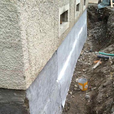 Abdichtung von Bruchsteinmauern