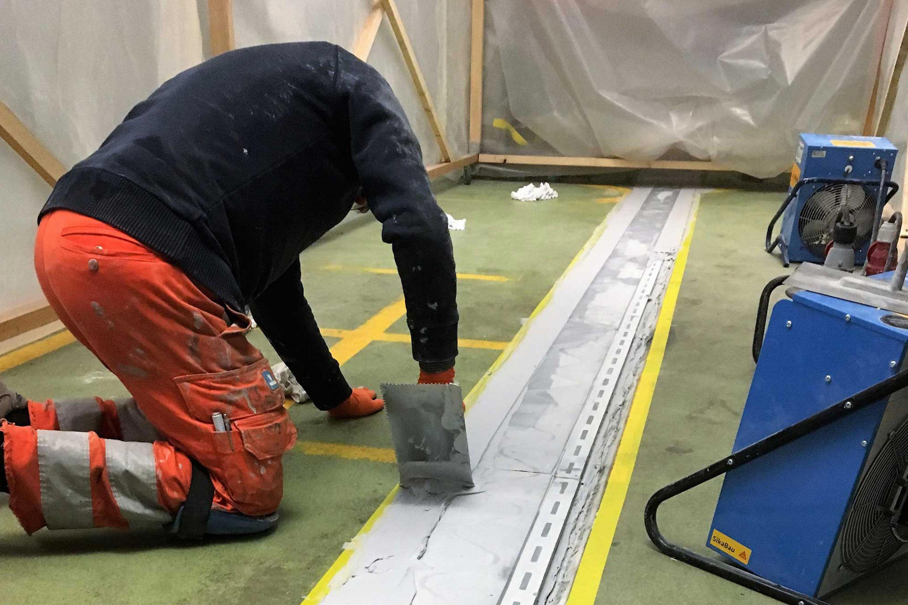 Abdichtung mit Floorjoint Fugenprofil