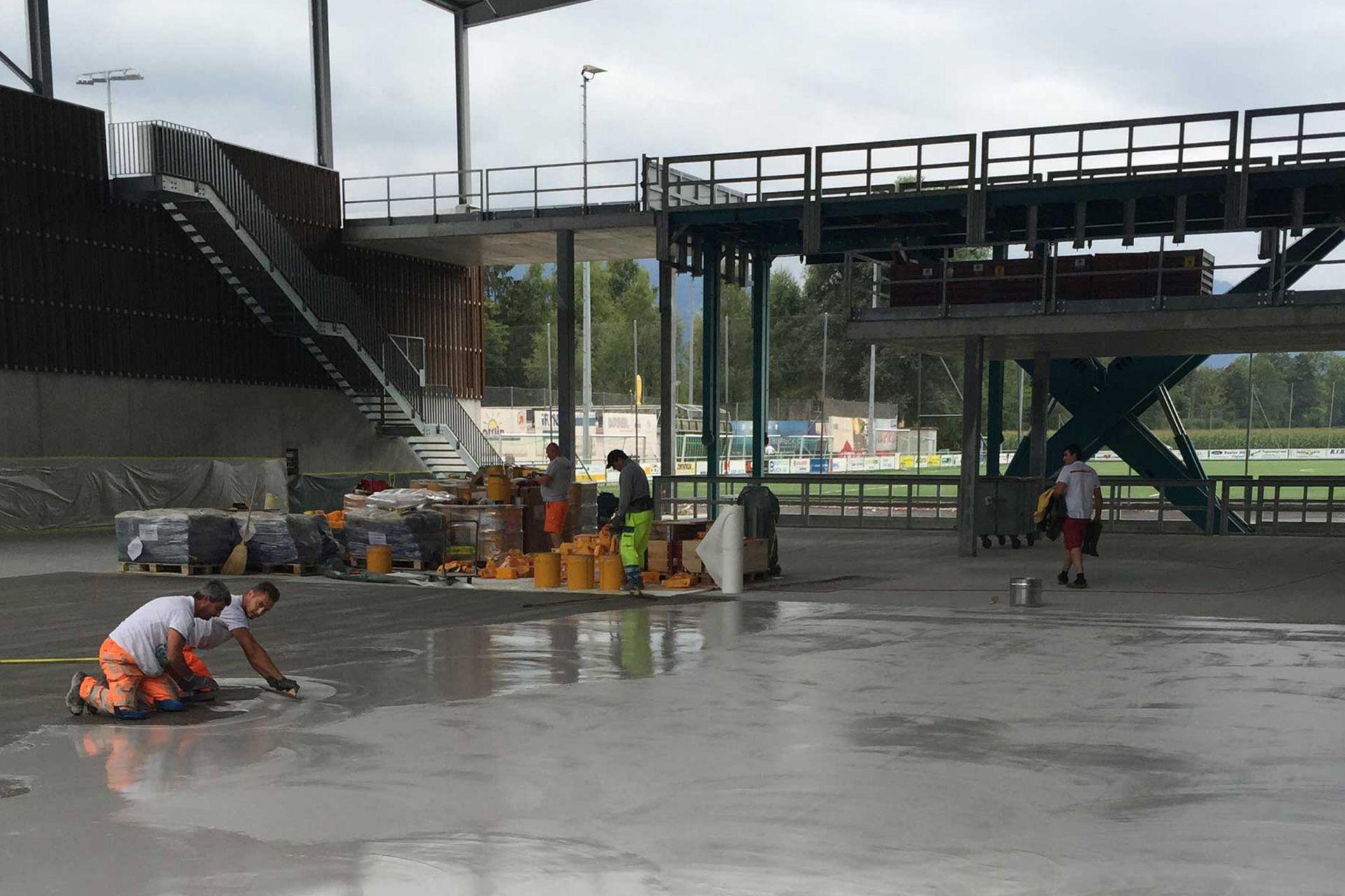 Bodenbeschichtung Jachthafen Alpnachstad