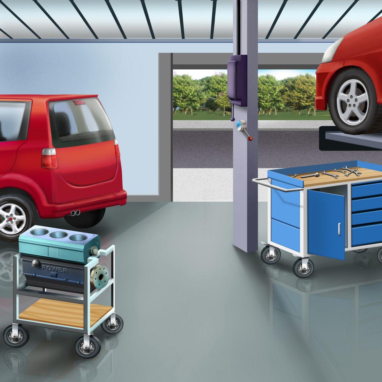 podlaha v garáži - Sikafloor Garage
