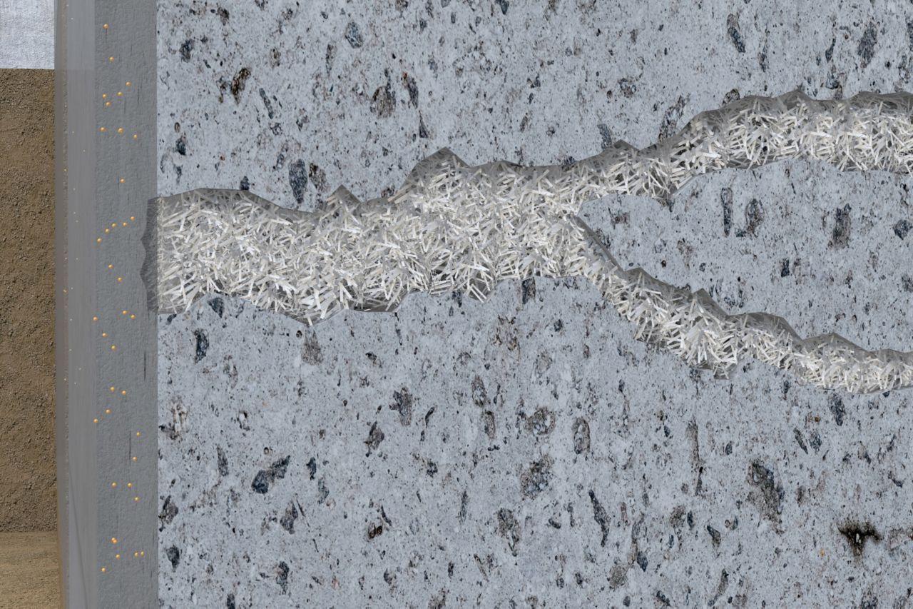 vodonepropustná krystalická struktura z Monotop 160 Migrating