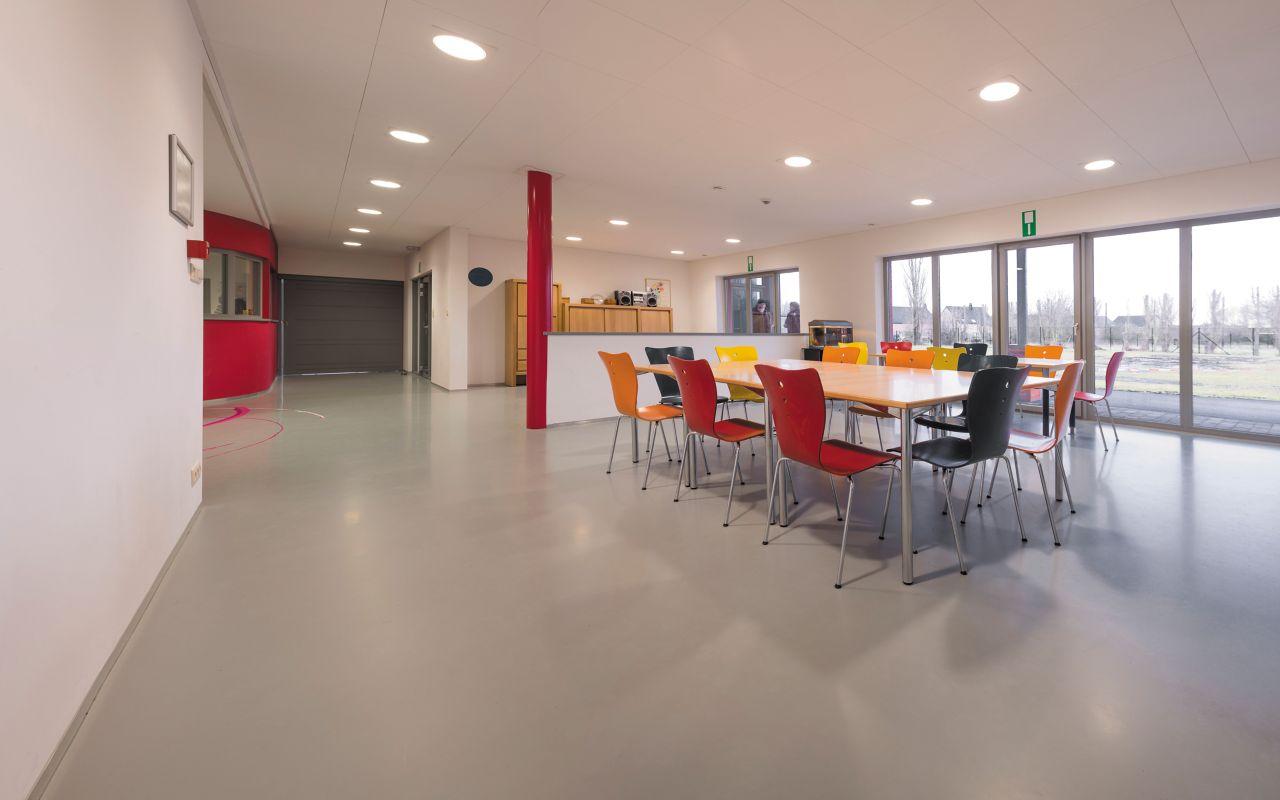 polyuretanová podlaha v jídelně