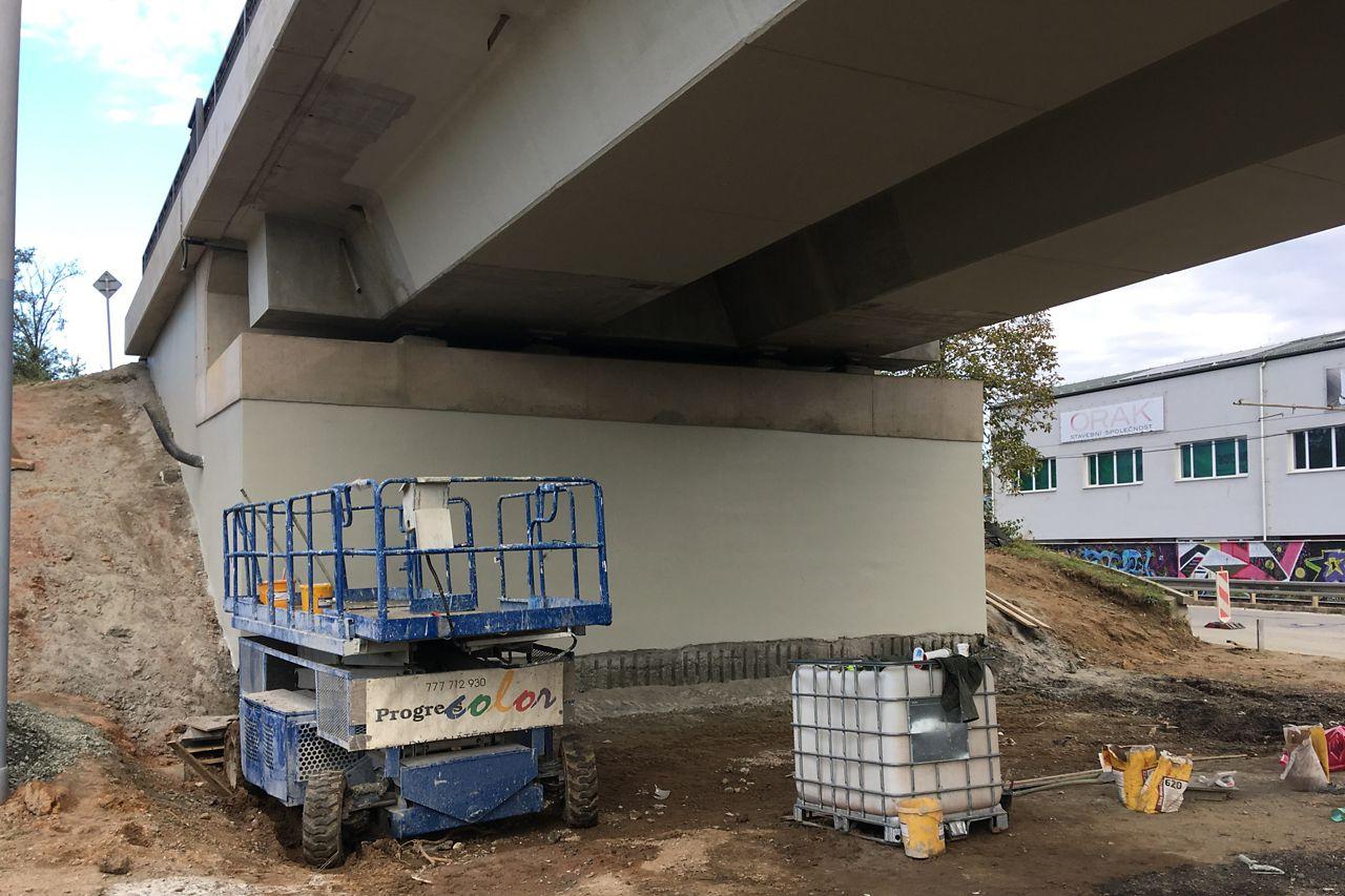 rekonstrukce mostu I/42 VMO Brno Žabovřeská