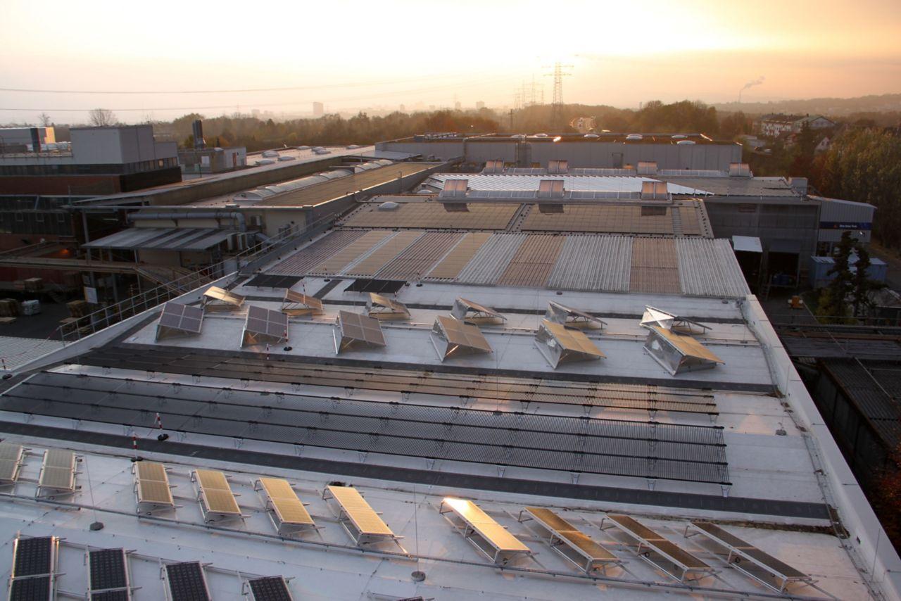 Sika Solarpark im Werk Stuttgart