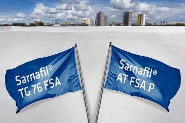 Roofing: Sarnafil TG 76 FSA und Sarnafil AT FSA P