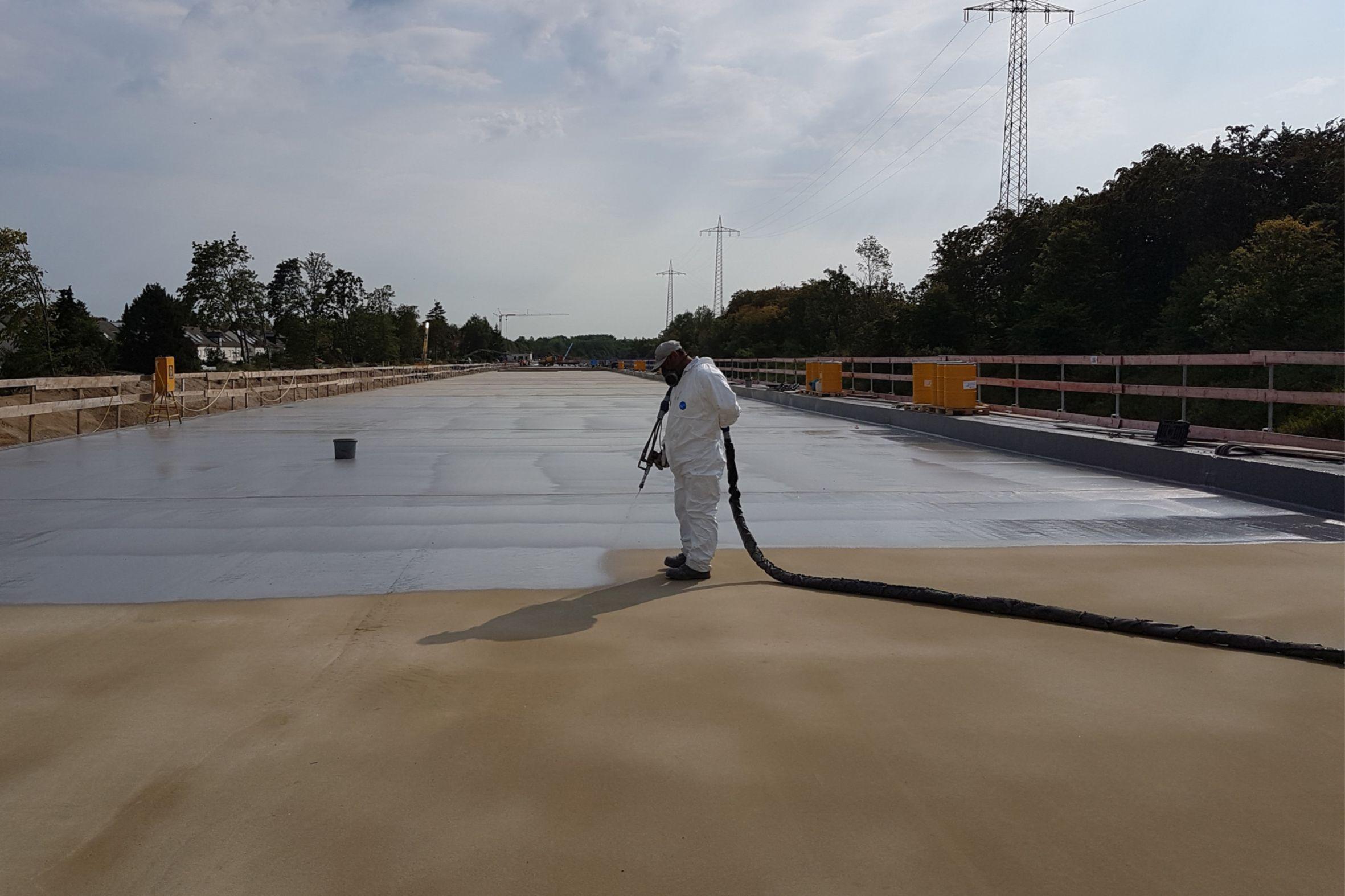 Waterproofing: Autobahngalerie Germering