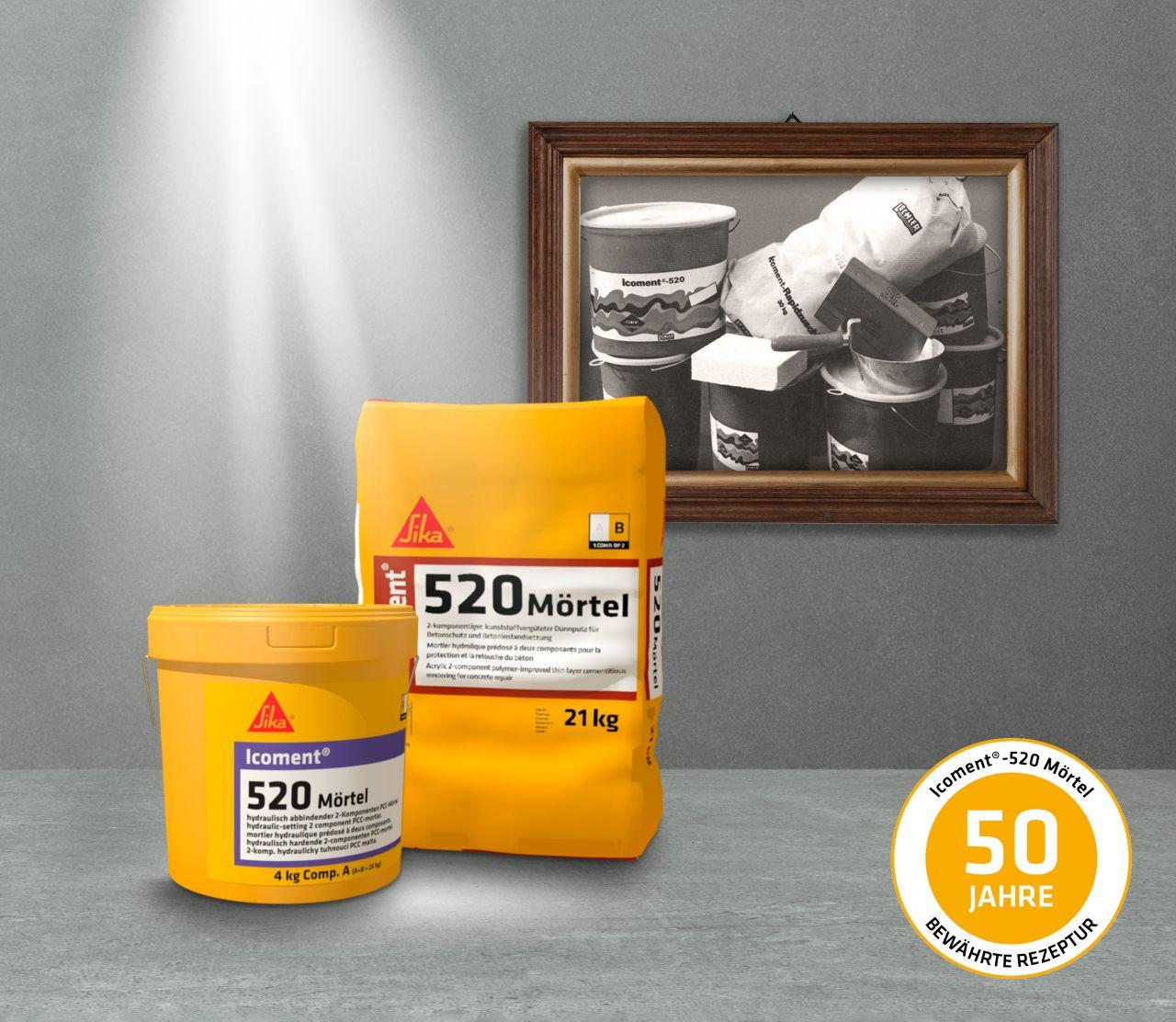 Refurbishment: Icoment-520 Mörtel - 50 Jahre