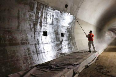 Verarbeitung im Tunnel