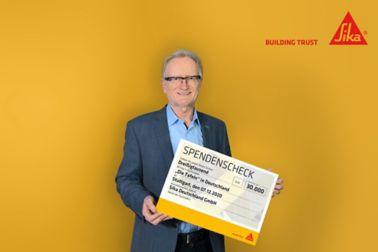 Sika Deutschland: Spende an die Tafel