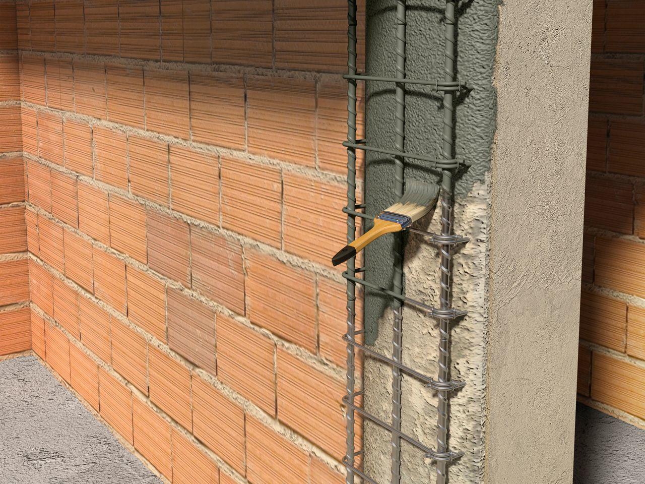 Protección contra la corrosión de refuerzo y cartilla de unión