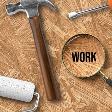 lightbox with message DO IT YOURSELF - LEARN HOW and handyman tools on wooden background - 3d illustration