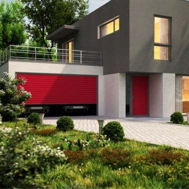 Modern home design and large garage for a cars