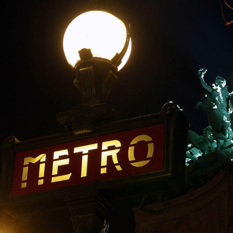 """Metro Station Champs Élysées Clemenceau, in the background: Grand Palais"""