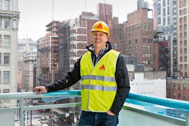 Sika sales team member Michael Winge