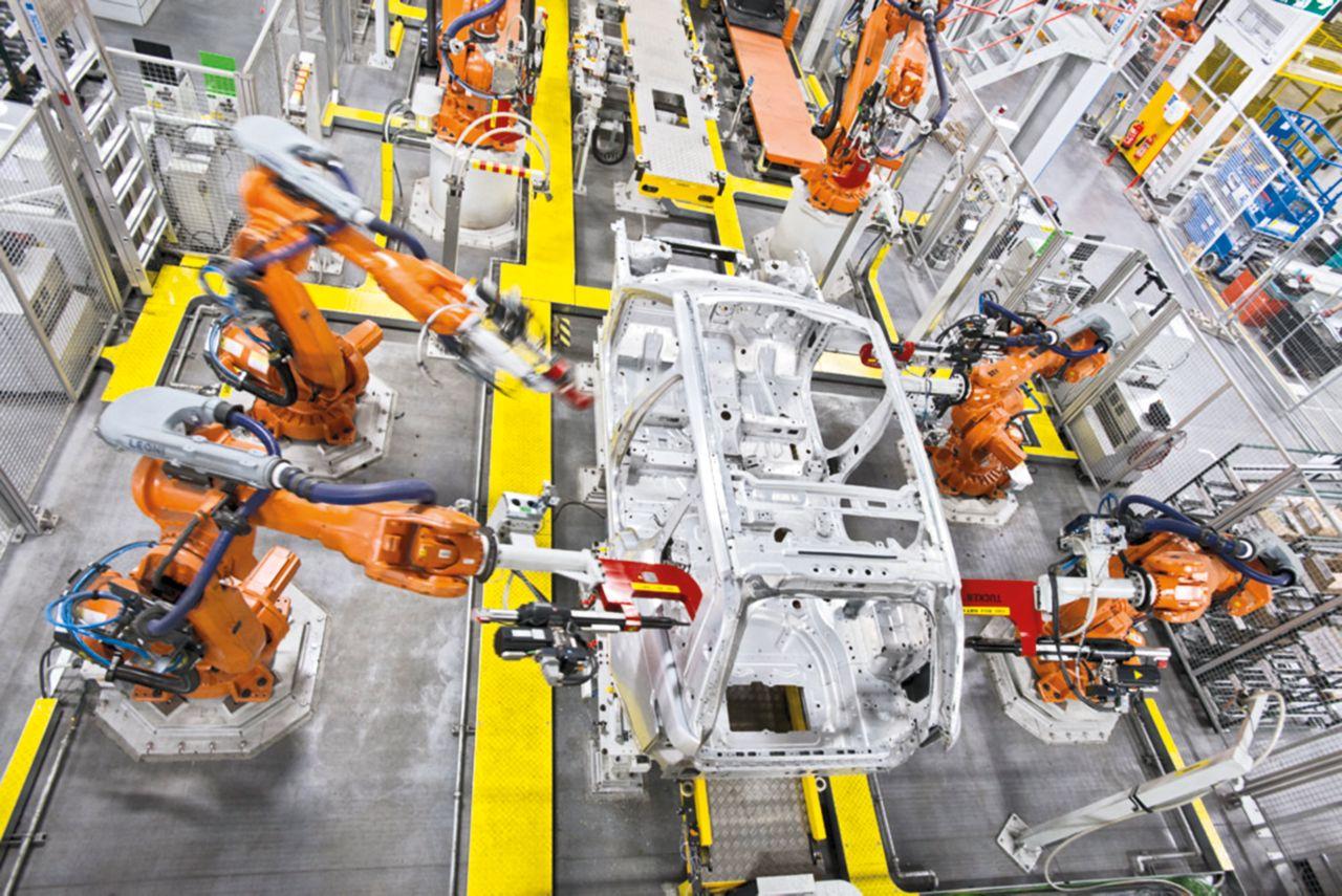 Production line of a car manufacturer