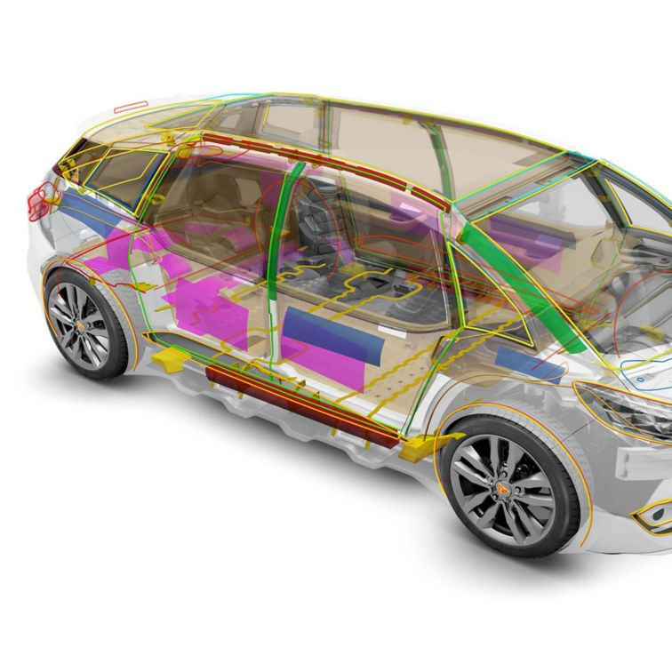 Full range of automotive bonding, damping, sealing, and reinforcing solutions