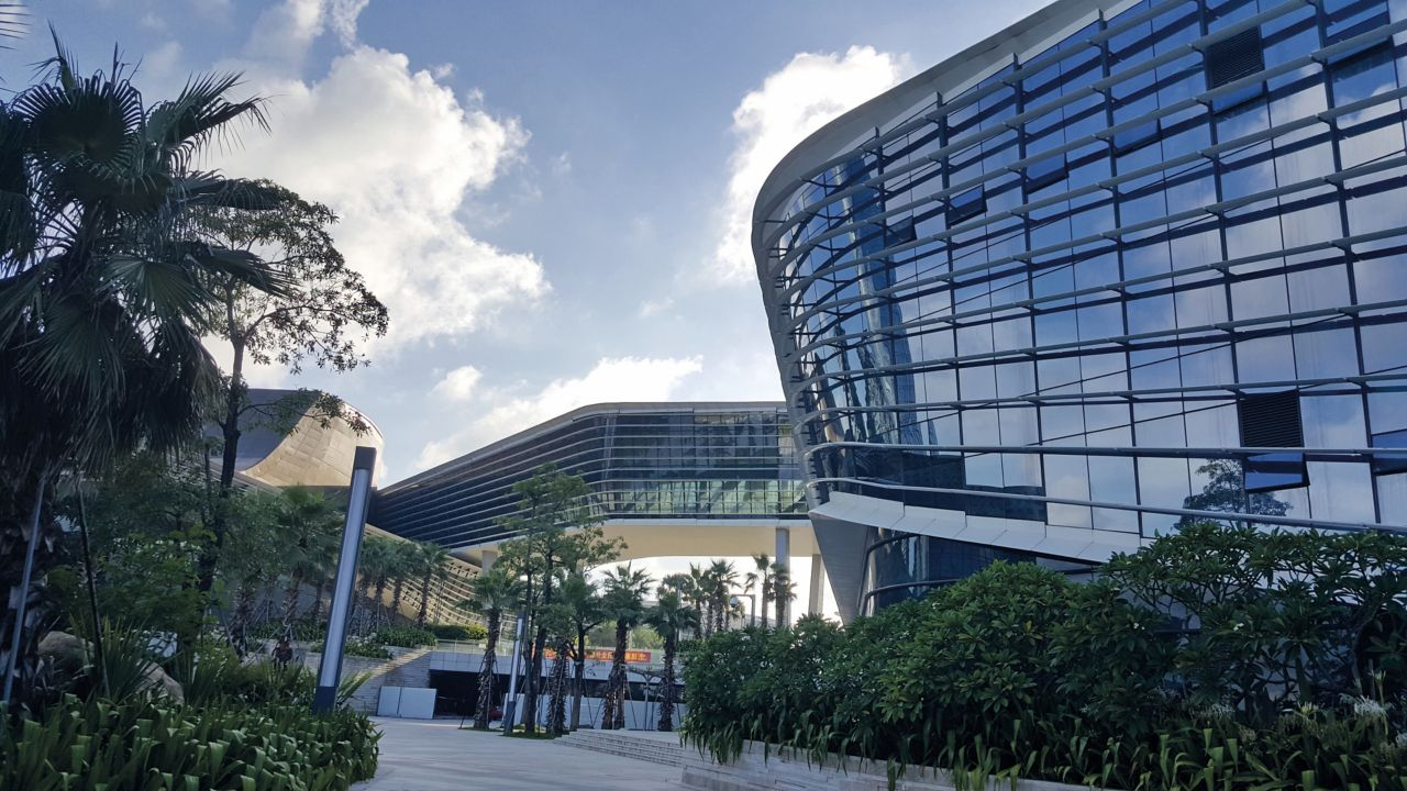The International Convention and Exhibition Center of Zhuhai in China