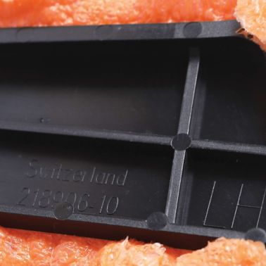 Injection molded acoustic SikaBaffle showing Sikamid carrier