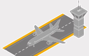 Airport runway graphic