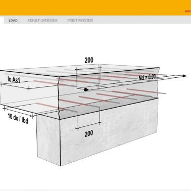 Sika AnchorFix® Calculation Software for chemical anchors
