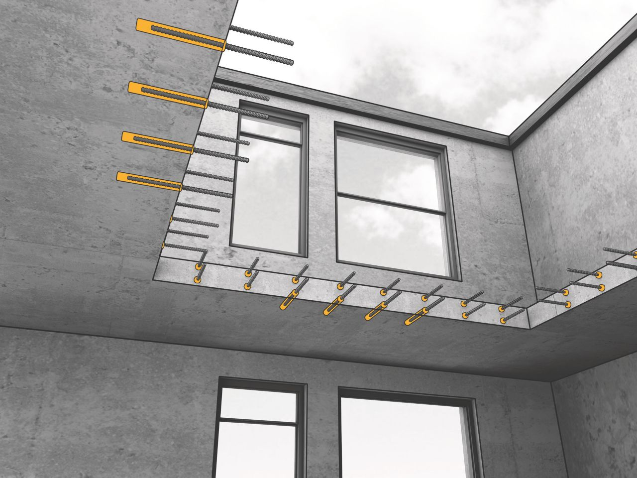 Kemično sidranje v beton nudi očitne prednosti pred mehanskim sidranjem. Preverite, kaj omogočajo izdelki Sika AnchorFix za sidranje v beton.