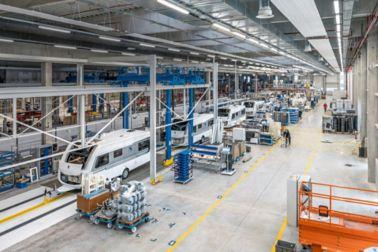 Caravan production line at Knaus Tabbert in Jandelsbrunn, Germany