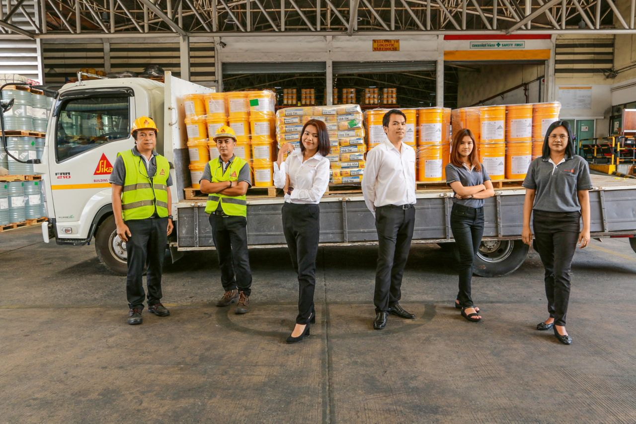 Sika Thailand – Team Logistic, Customer Service, and Sales