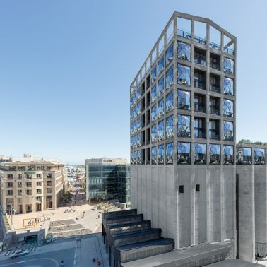 Zeitz Museum of Contemporary Art Africa in Cape Town, South Africa: with the technological expertise of Sika, the old grain silos were transformed into a new landmark of Cape Town.