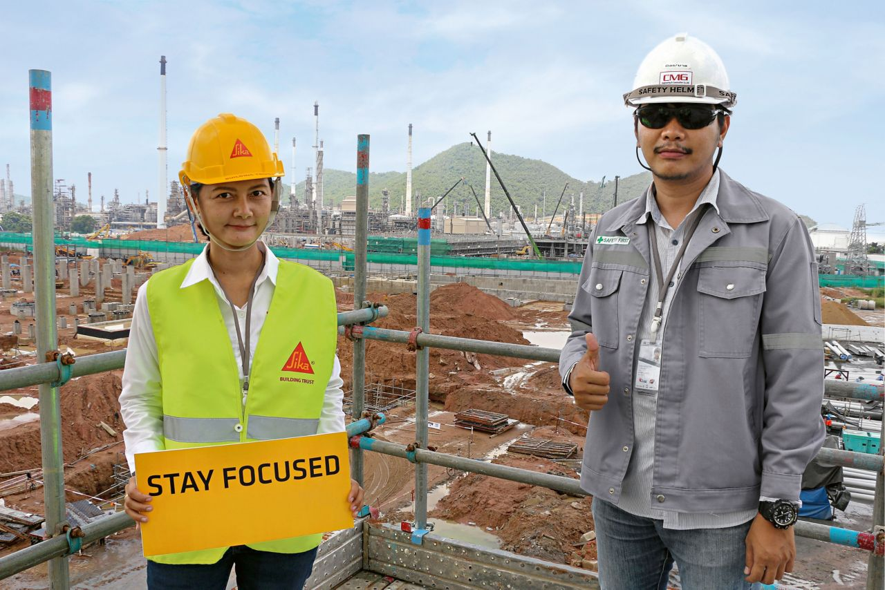 Sika Thailand with a customer
