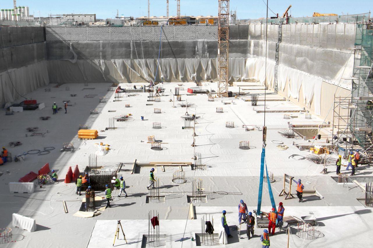 Im Norden von Doha, Katar, entsteht mit Lusail City ein neuer Stadtteil für 450'000 Menschen. Der Commercial Boulevard bildet das wirtschaftliche Zentrum.