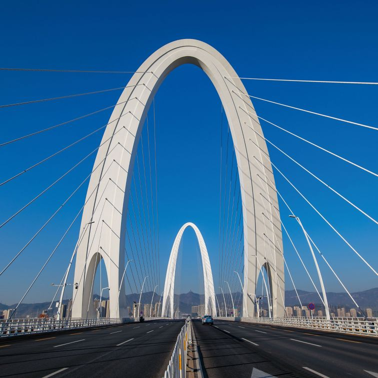 Xin Shougang Bridge in Beijing, China