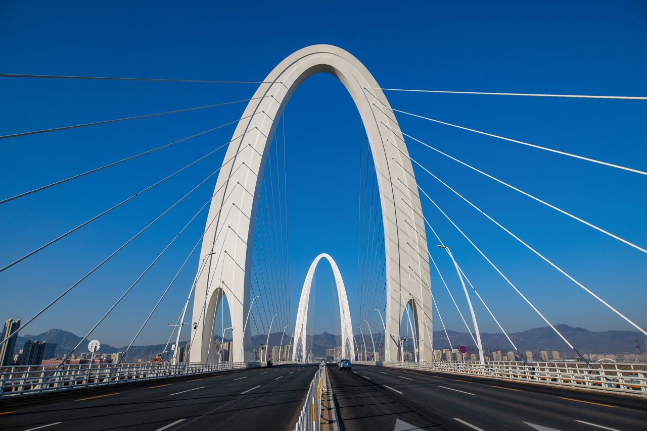 Xin Shougang Brücke, China