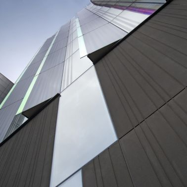 Architectural concrete facade of Manchester Metropolitan University produced with Sika concrete admixtures