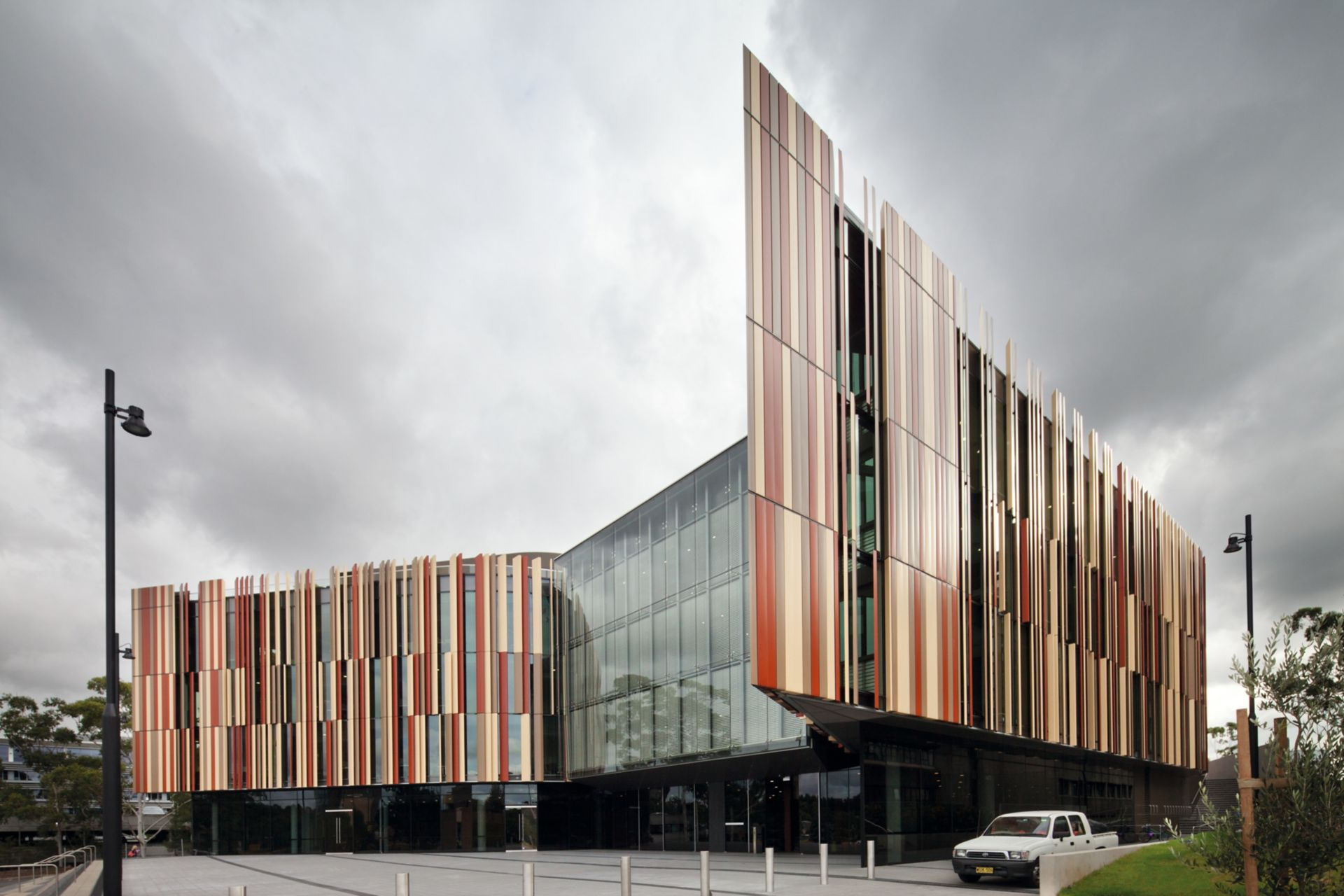 Architectural concrete facade of Macquarie University in Australia produced with Sika concrete admixtures