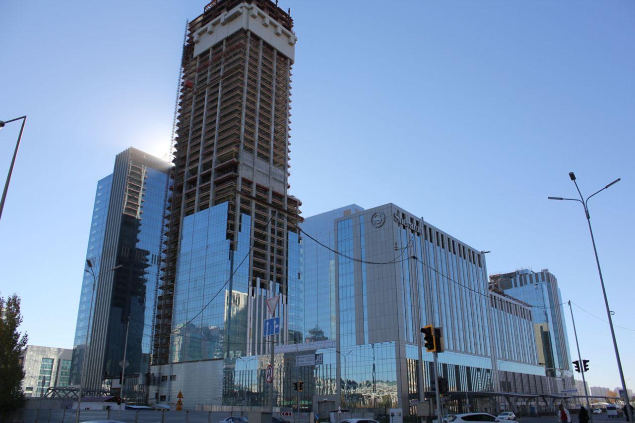 Abu Dhabi Plaza building in Astana