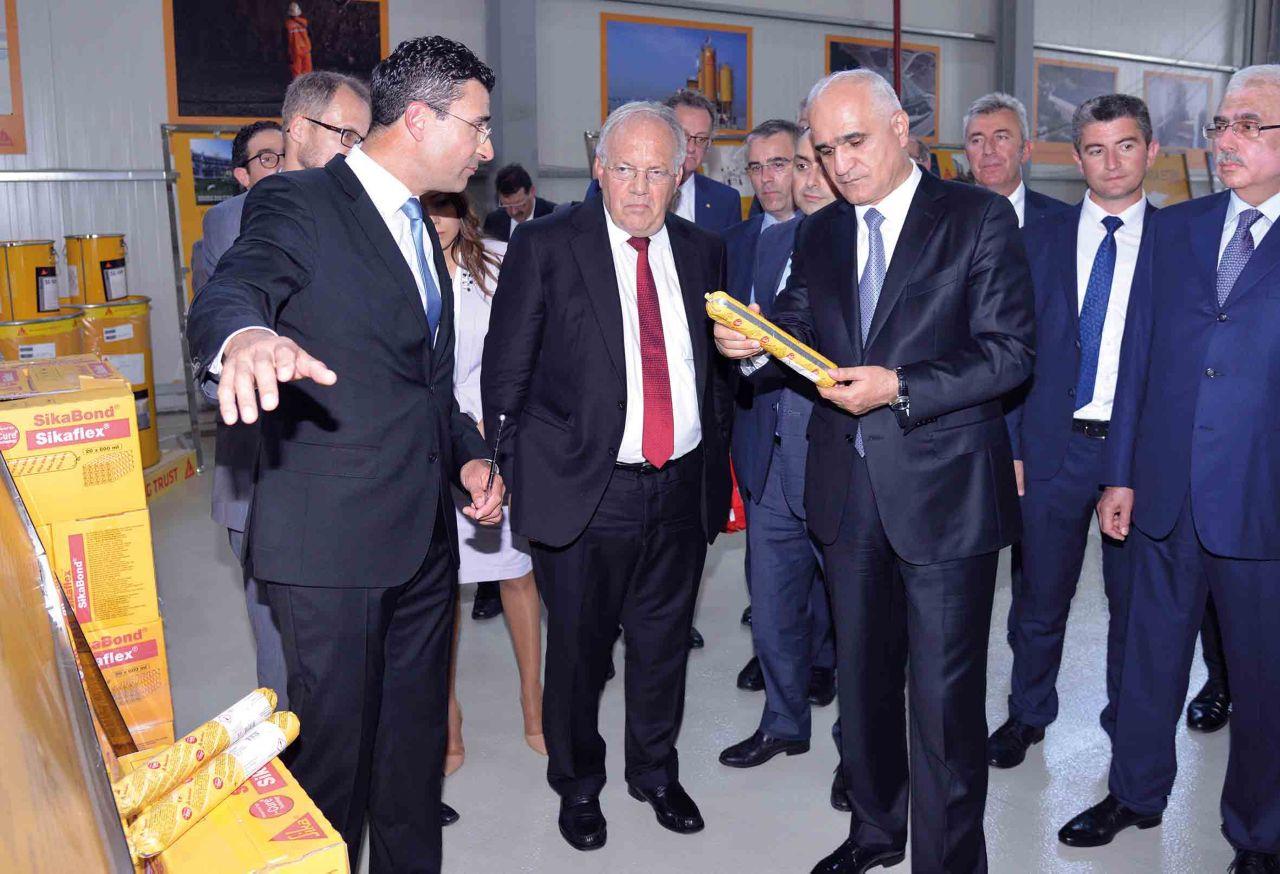 Representatives of Azerbaijan and Switzerland visiting Sika Factory near Baku