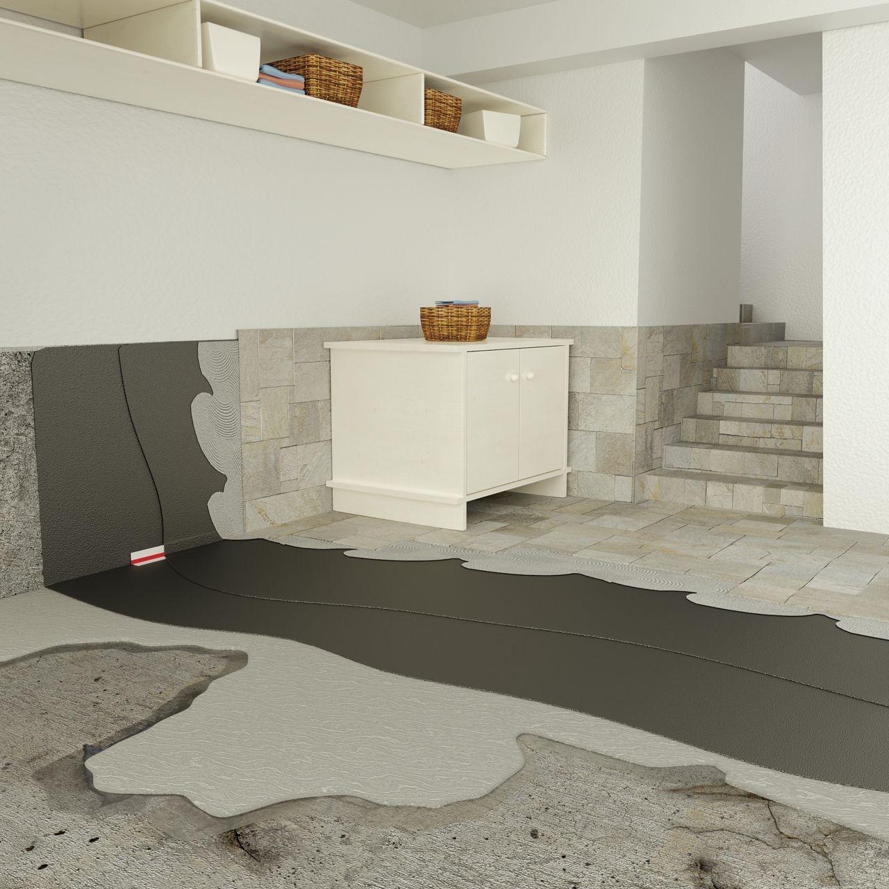 Waterproofing of internal basement walls