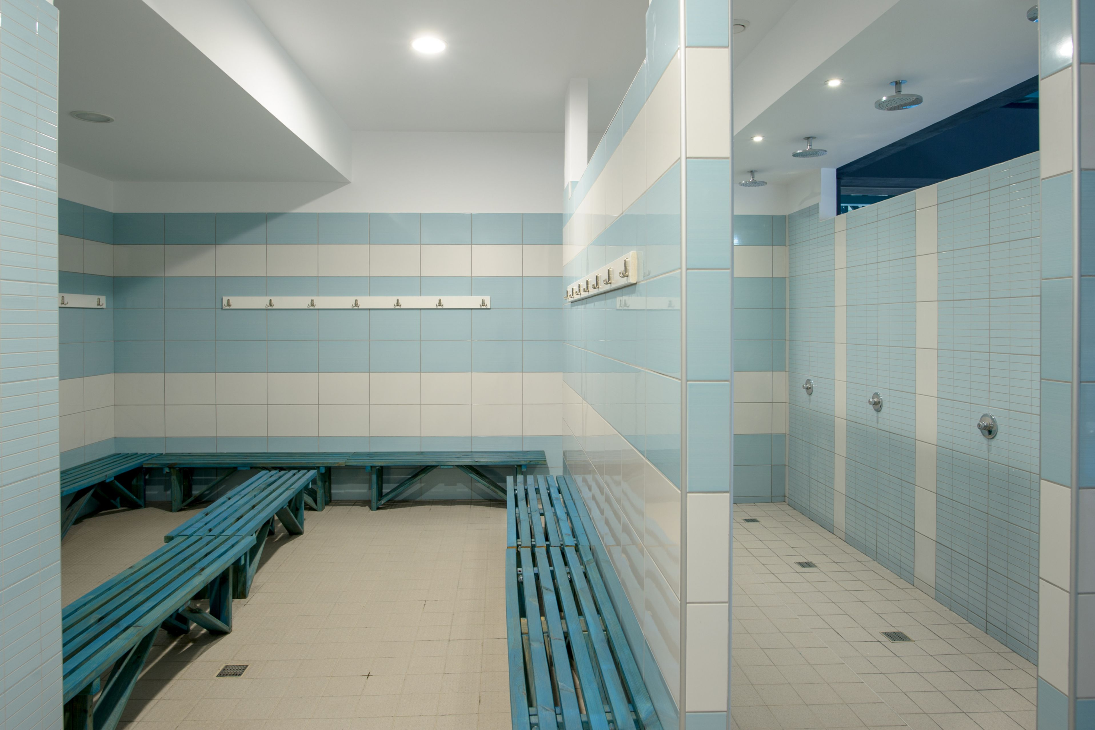 The bathroom of the Epirus Sport and Health Center in Ioannina, Greece