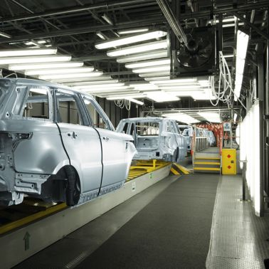 Body in white car in a production line previously being assembled with SikaPower