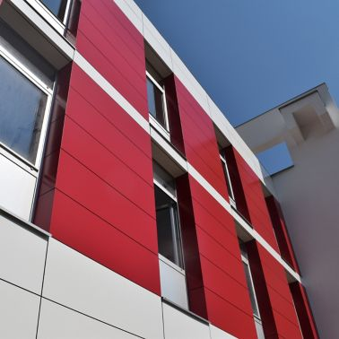 Facade built with Sika envelope system