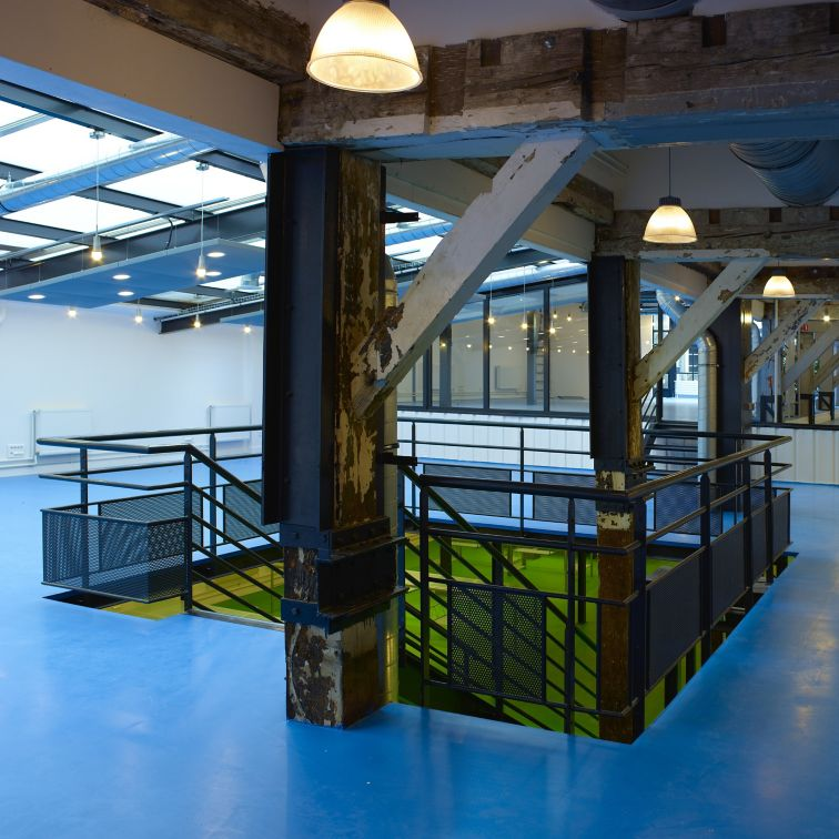 Floor of the Business Incubator 27 in Paris