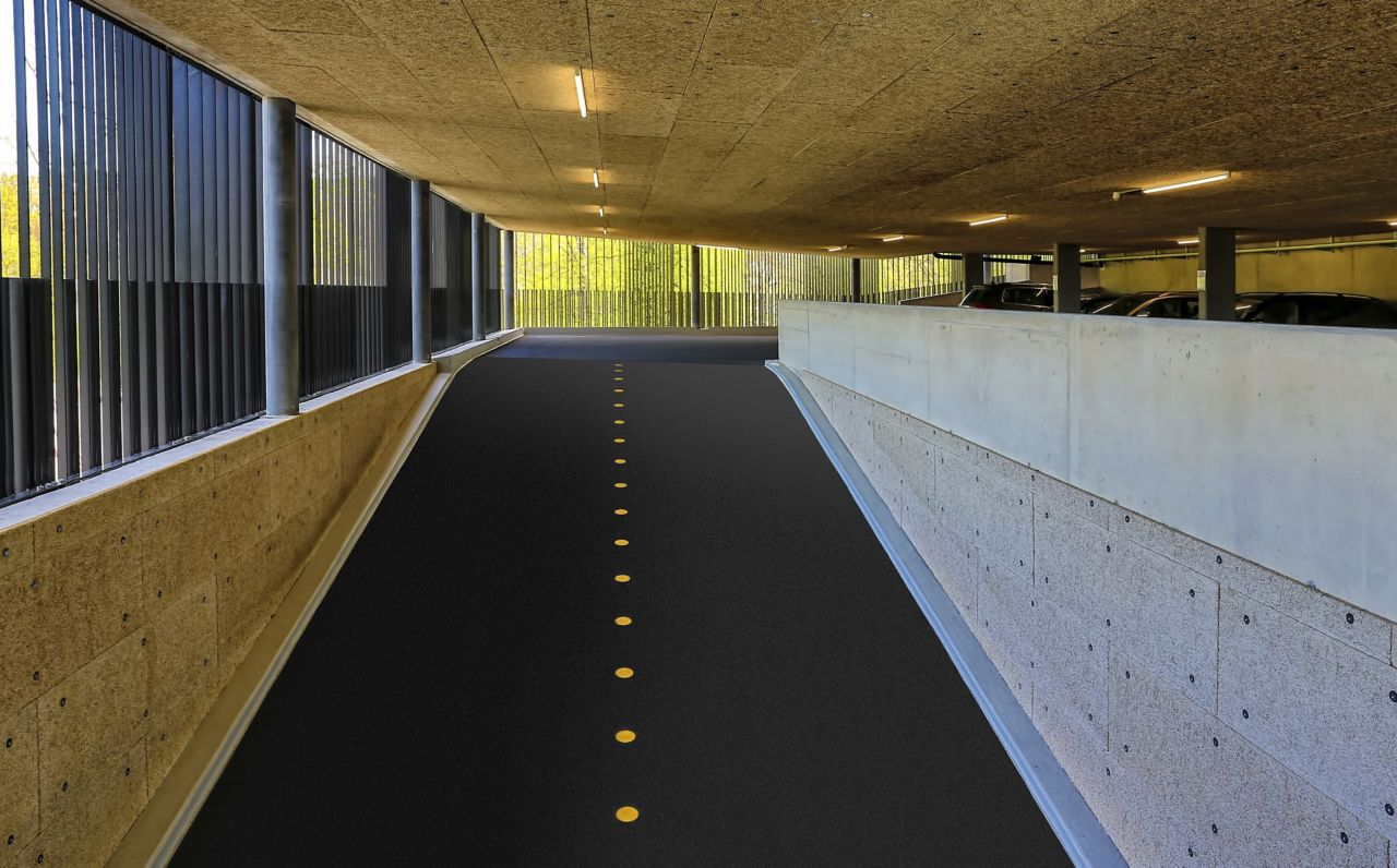 Sika Floor Coating Systems for Car Park Ramp in parking garage