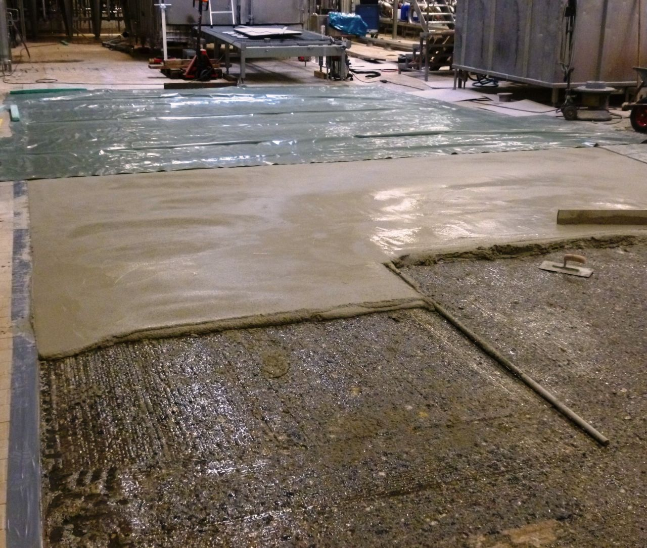 Cementitious Flooring Screed Application